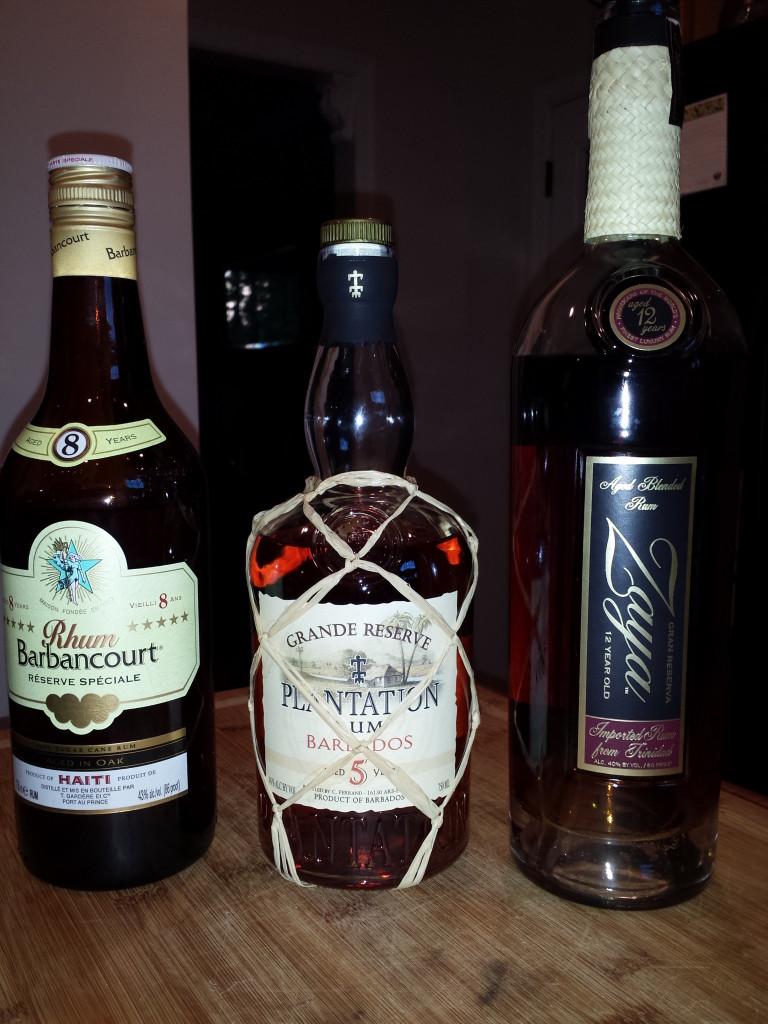 Rum tasting winners: 12-year Trinidad, 5-year Barbados, 8-year Haiti