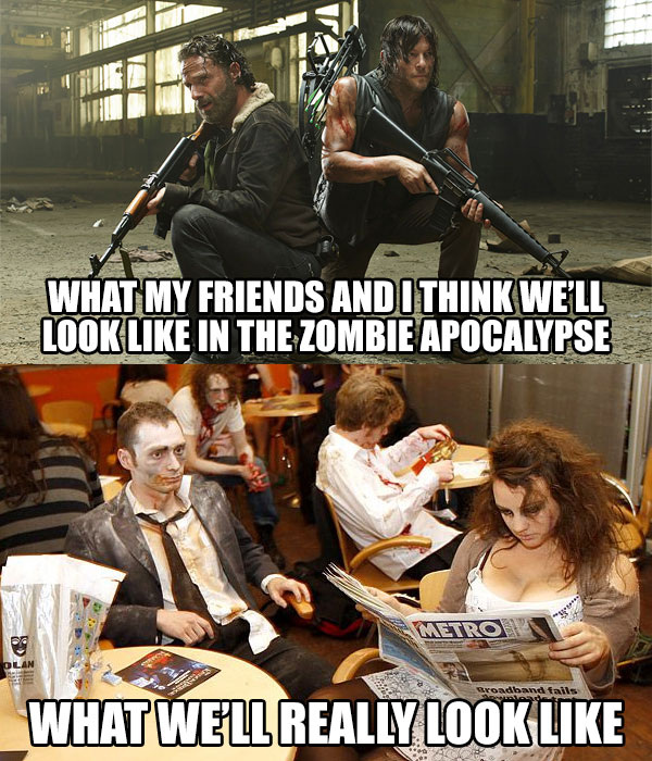 Zombie Apocalypse Fantasy vs Reality