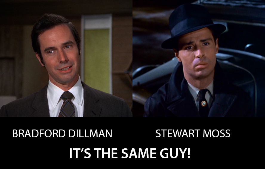 Bradford Dillman and Stewart Moss