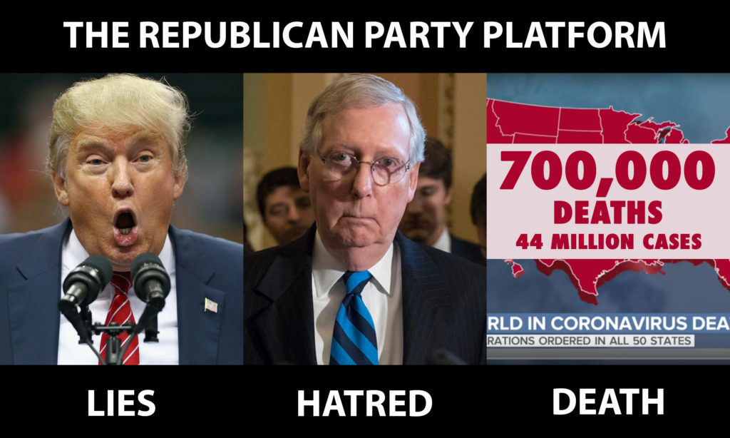 Republican Party platform: Lies, Hatred, and Death
