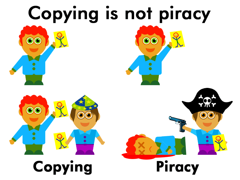 Copying is not piracy